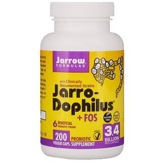 Jarrow Formulas, Jarro-дофилус + ФОС, 200 капсул