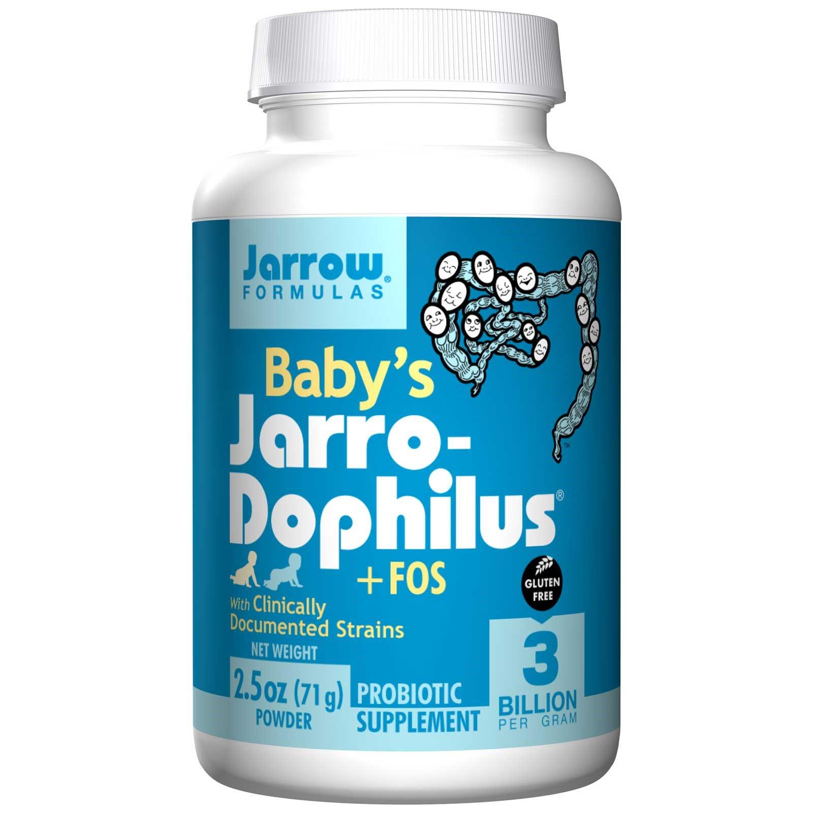 Jarrow Formulas, Jarro-Dophilus + FOS для малышей, 2.5 унций (71 г) (Ice)