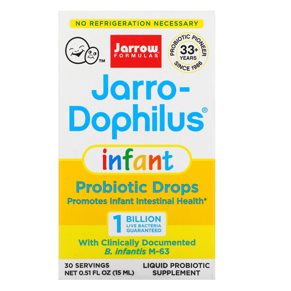Jarrow Formulas, Infant, Jarro-Dophilus, Probiotics Drops, 1 Billion , 0.51 fl oz (15 ml)
