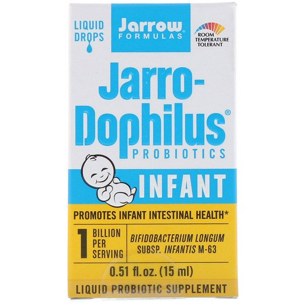 Jarrow Formulas, Jarro-Dophilus Probiotics, Liquid Drops, Infant, 0.51 fl oz. (15 ml)