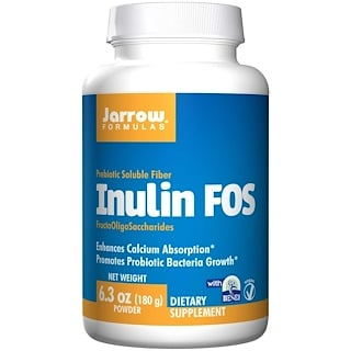 Jarrow Formulas, イヌリン FOS, 6.3 oz (180 g) Powder