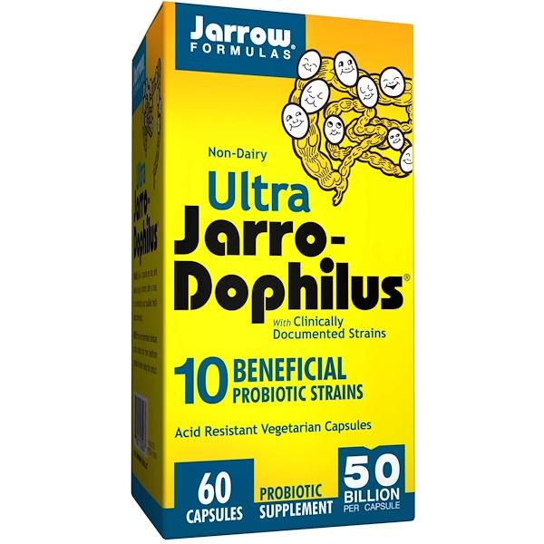 Jarrow Formulas, Ultra Jarro-Dophilus益生菌膠囊,60粒 (Ice)