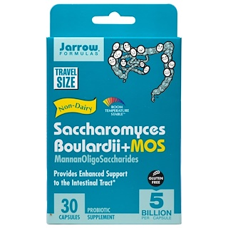 Jarrow Formulas, Saccharomyces Boulardii + MOS, 5 Billion, 30 Veggie Caps