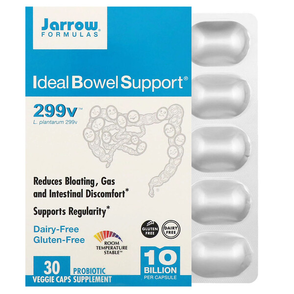 Jarrow Formulas, Ideal Bowel Support, 299v, 10 Billion, 30 Veggie Caps
