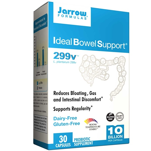 Jarrow Formulas, Ideal Bowel Support, 299v, 30 Veggie Caps