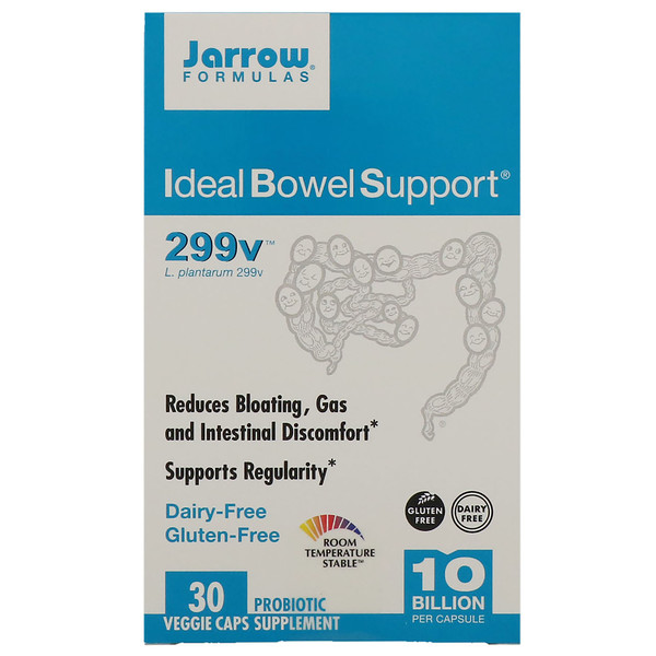 Jarrow Formulas, Ideal Bowel Support, 299v, 30 растительных капсул