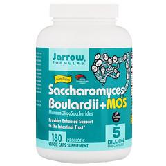 Jarrow Formulas, Saccharomyces Boulardii + MOS, 180 Veggie Caps