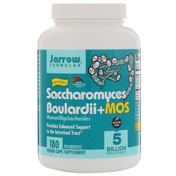 Jarrow Formulas, 布拉酵母菌 + MOS,180 粒素食膠囊