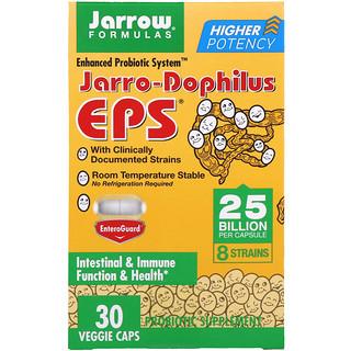 Jarrow Formulas, Jarro-Dophilus EPS, улучшенная пробиотическая система, 25 миллиардов, 30 веганских капсул