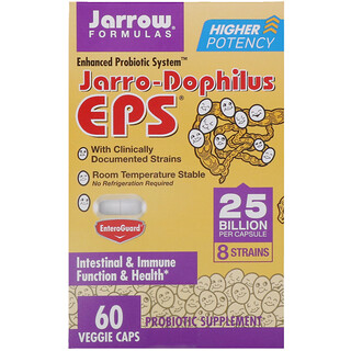 Jarrow Formulas, Jarro-Dophilus EPS, 25 Billion, 60 Veggie Caps