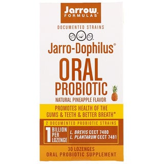 Jarrow Formulas, Jarro-Dophilus, Oral Probiotic, 1 Billion, Natural Pineapple Flavor, 30 Lozenges