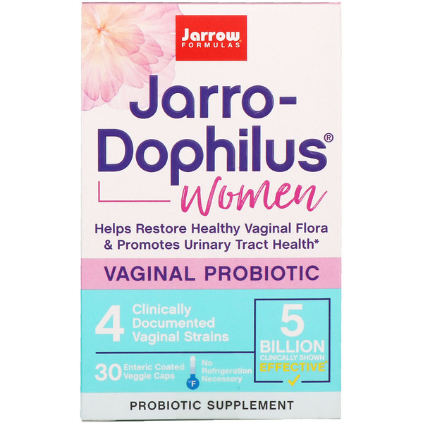 Jarrow Formulas, Jarro-Dophilus, Vaginal Probiotic, Women, 5 Billion, 30 Enteric Coated Veggie Caps