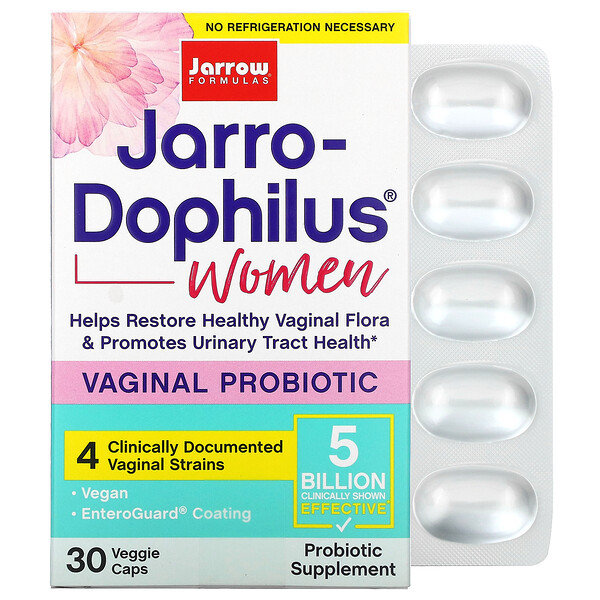 Jarrow Formulas, Jarro-Dophilus, Vaginal Probiotic, Women, 5 Billion, 30 Veggie Caps