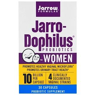 Jarrow Formulas, Jarro-Dophilus Probiotics, 10 Billion, For Women, 30 Capsules