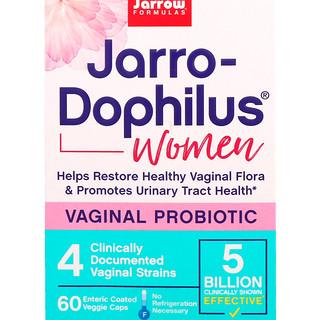 Jarrow Formulas, Jarro-Dophilus, Vaginal Probiotic, Women, 5 Billion, 60 Enteric Coated Veggie Caps
