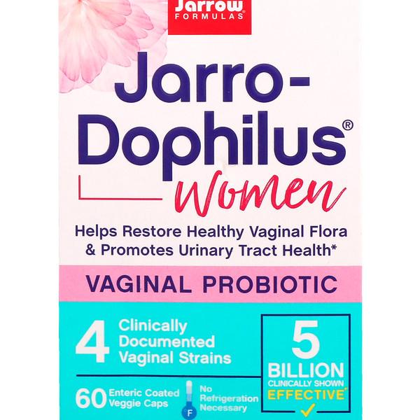 Jarrow Formulas, Jarro-Dophilus, Vaginal Probiotic, Women, 5 Billion, 60 Enteric Coated Veggie Caps