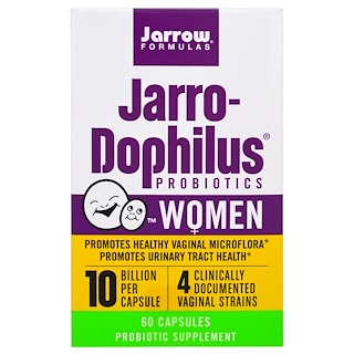 Jarrow Formulas, Пробиотики Jarro-Dophilus, для женщин, 60 капсул