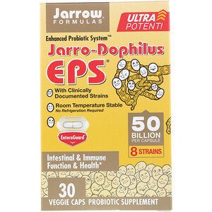 Jarrow Formulas, Jarro-Dophilus EPS, Ultra Potent, 50 Billion, 30 Veggie Caps
