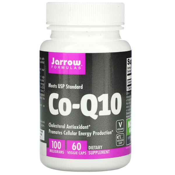 Jarrow Formulas, Co-Q10, 100 mg, 60 Veggie Caps
