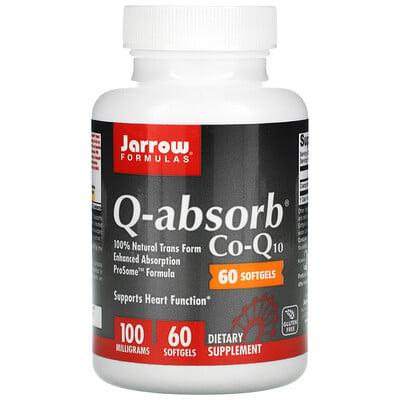 Jarrow Formulas Q-absorb коэнзим-Q10, 100мг, 60капсул