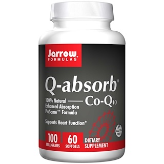 Jarrow Formulas, Q-absorb Co-Q10, 100 mg, 60 Softgels