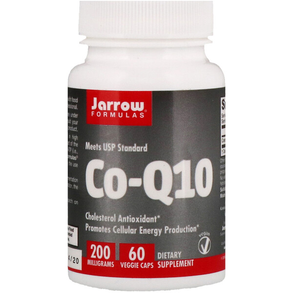 Jarrow Formulas, Co-Q10, 200 mg, 60 cápsulas vegetarianas