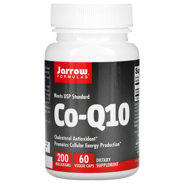 Jarrow Formulas, Co-Q10, 200 mg, 60 Cápsulas Vegetais