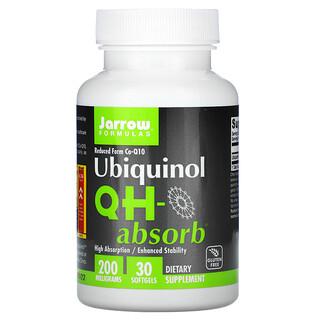 Jarrow Formulas, Ubiquinol, QH-Absorb, 200 mg, 30 Softgels