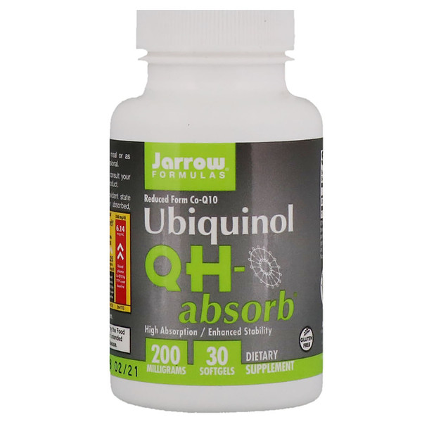 Ubiquinol, QH-Absorb, 200 mg, 30 Softgels