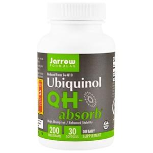 Jarrow Formulas, QH-absorb, убихинол, 100 мг, 30 капсул инструкция, применение, состав, противопоказания