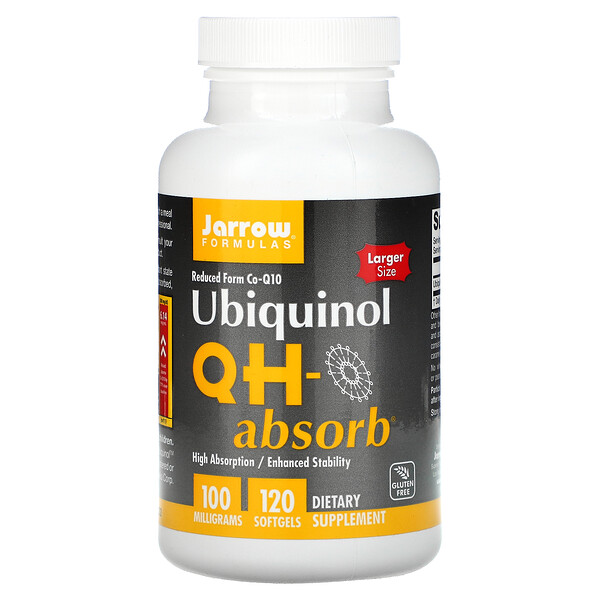 Jarrow Formulas, Ubiquinol, QH-Absorb, 100 mg, 120 Softgels