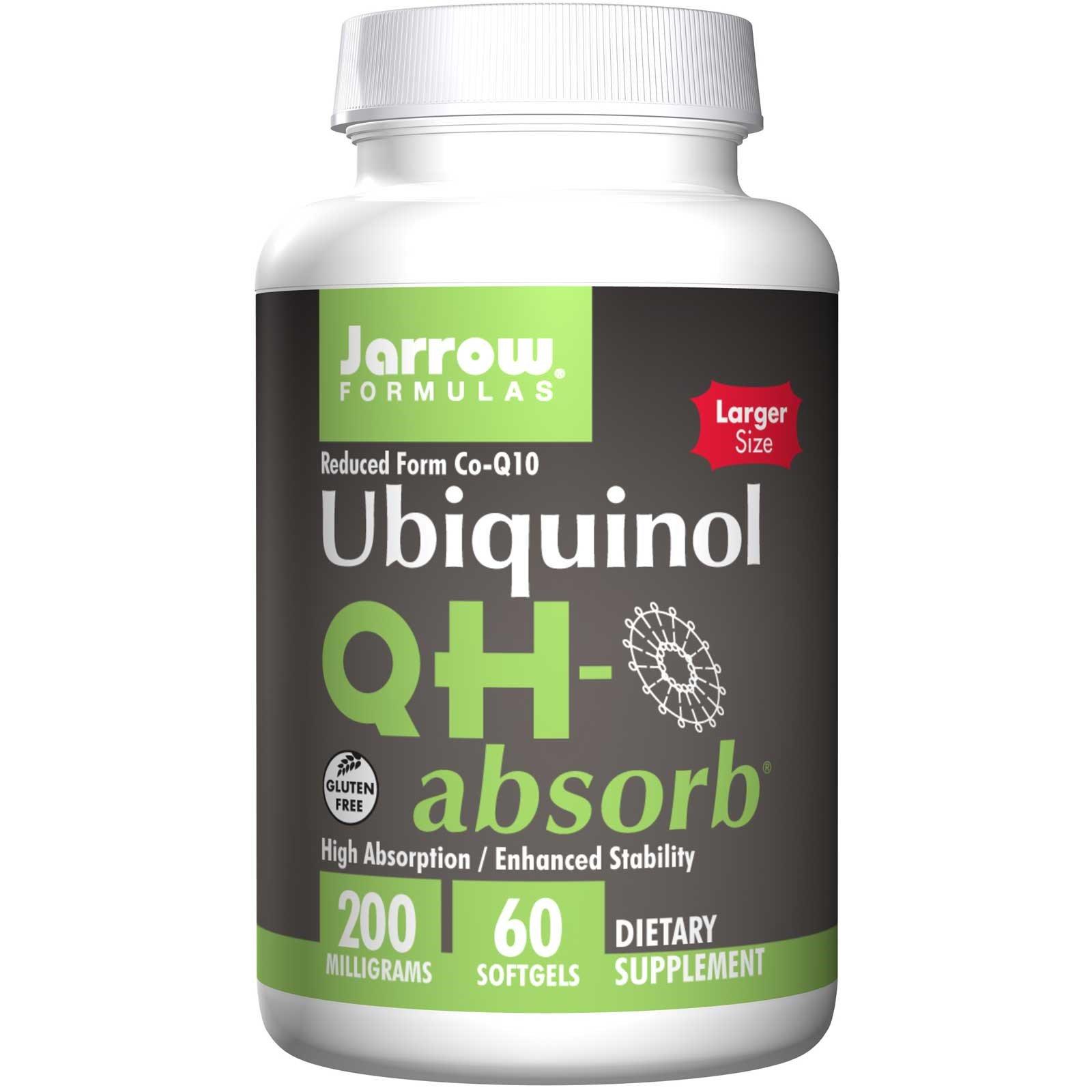 Jarrow Formulas, Убихинол QH-Absorb, 200 мг, 60 мягких гелевых капсул