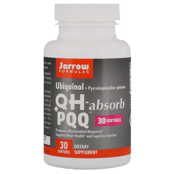 Jarrow Formulas, Ubiquinol, QH - Absorb + PQQ, 30 Softgels