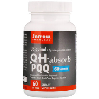 Jarrow Formulas, Ubiquinol, QH+ PQQ Absorb, 60 Softgels