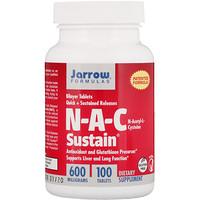 N-A-C Sustain, N-ацетил-L-цистеин, 600мг, 100таблеток - фото