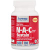 Jarrow Formulas, N-A-C Sustain, N-acetilcisteína, 600 mg, 100 comprimidos
