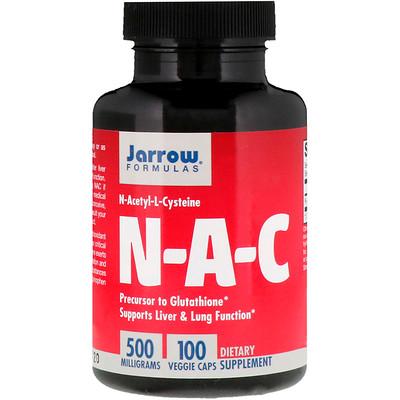Купить N-A-C, N-ацетил-L-цистеин, 500 мг, 100 вегетерианских капсул
