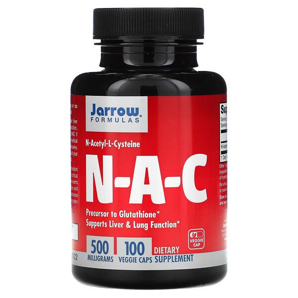 ن-أسيتيل-ل-سيستين (N-A-C)، 500 ملجم، 100 كبسولة نباتية
