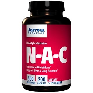 Jarrow Formulas,  N-アセチル-L-システイン、 500 mg、 200カプセル