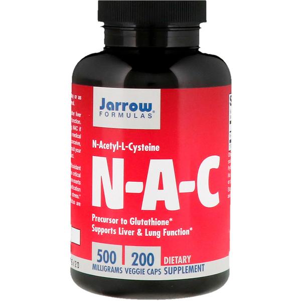 Jarrow Formulas, N-A-C N-Acetyl-L-Cysteine, 500 mg, 200 Veggie Caps