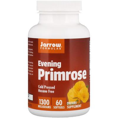 Evening Primrose, 1300 мг, 60 мягких желатиновых капсул