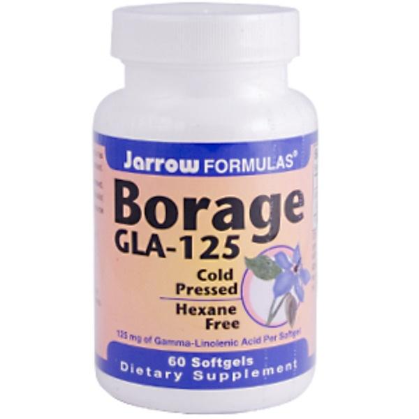 Jarrow Formulas, Borage GLA-125, 60 Softgels (Discontinued Item)