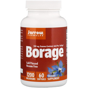 джэрроу формулас, Borage, GLA-240, 1,200 mg, 60 Softgels отзывы покупателей