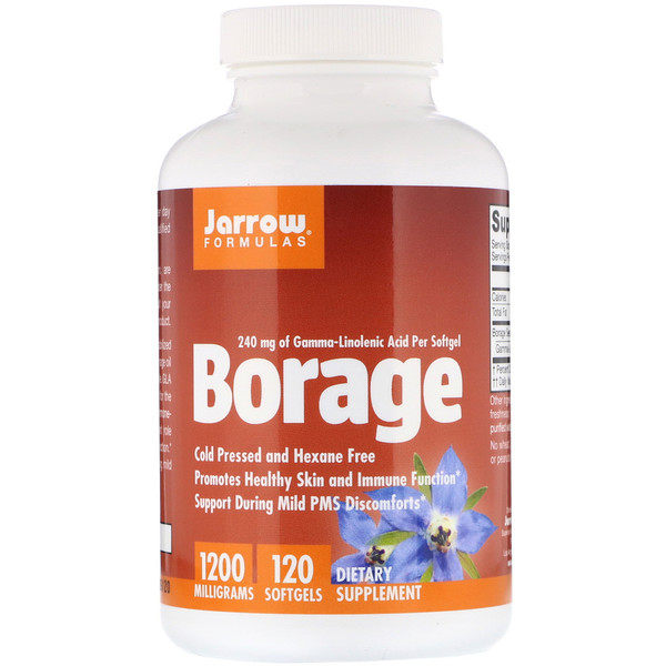 Jarrow Formulas, Borage, GLA-240, 1200 mg, 120 Softgels