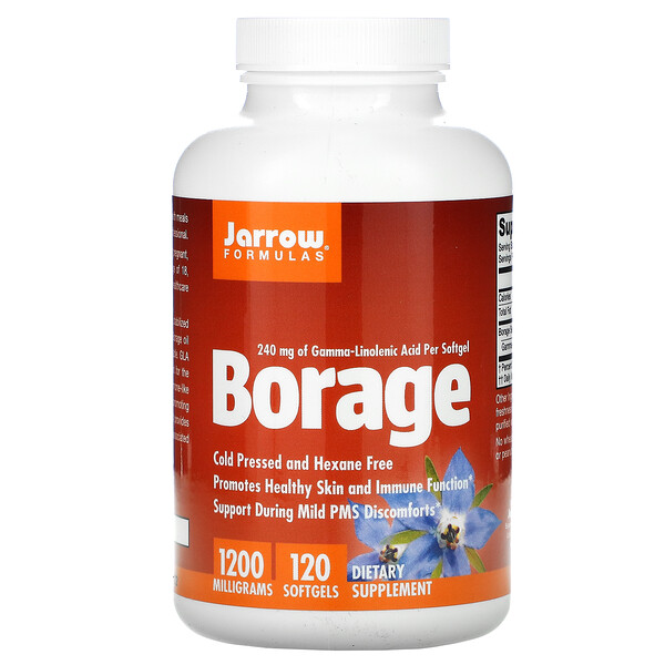 Borragem, GLA-240, 1200 mg, 120 Cápsulas Softgel