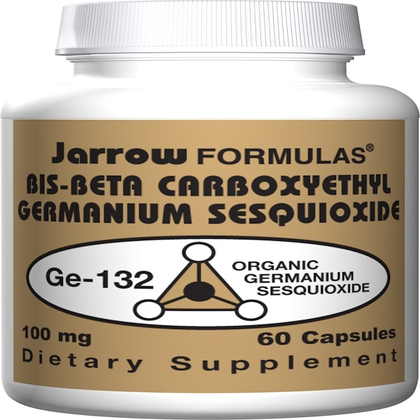Jarrow Formulas, Bis-Beta Carboxyethyl Sesquioxide, GE-132, 100 mg, 60 Capsules (Discontinued Item)