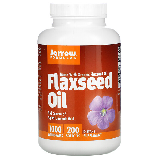 Jarrow Formulas, Flaxseed Oil, 1,000 mg, 200 Softgels