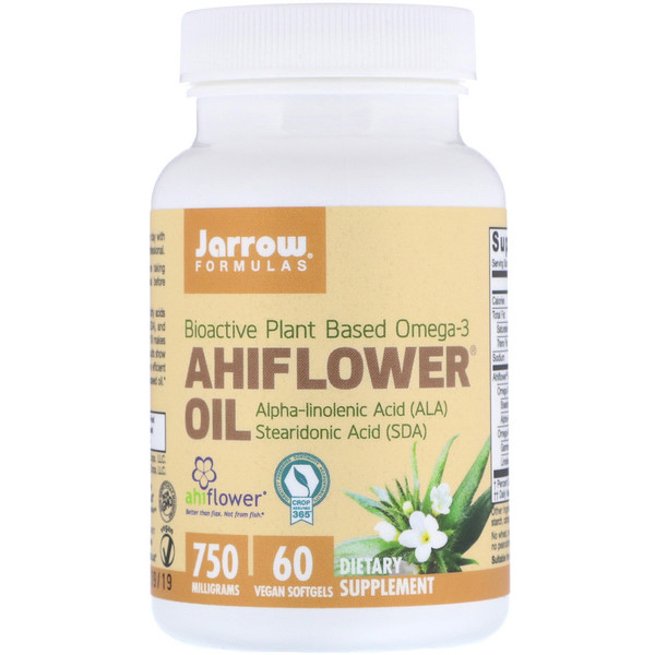 Ahiflower Oil, 750 mg, 60 Vegan Softgels