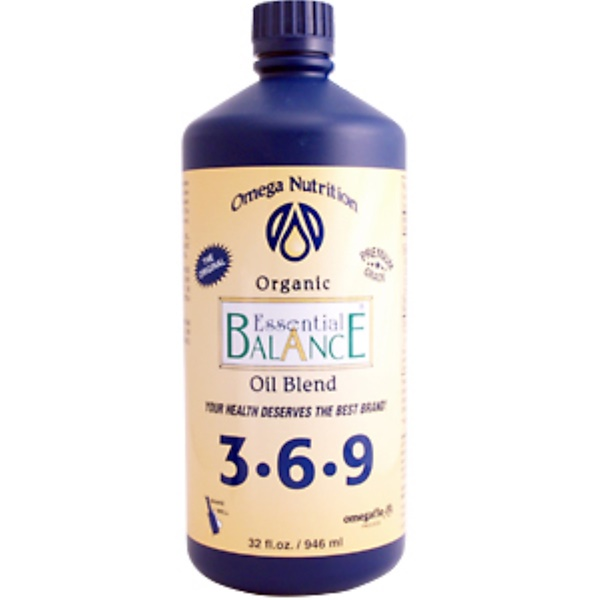 Jarrow Formulas, Omega Nutrition, Essential Balance, Organic, 32 fl oz (946 ml) (Discontinued Item)