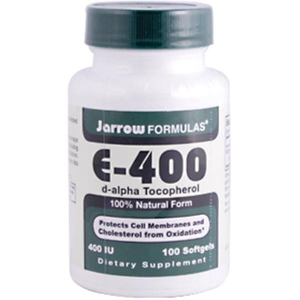Jarrow Formulas, E-400, d-Alpha Tocopherol, 400 IU, 100 Softgels (Discontinued Item)